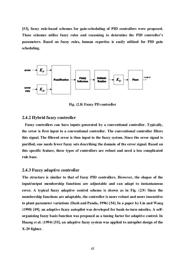 fuzzy control thesis This thesis examines the utility of fuzzy logic in the field of control engineering a  tutorial introduction to the field offuzzy control is presented during the.