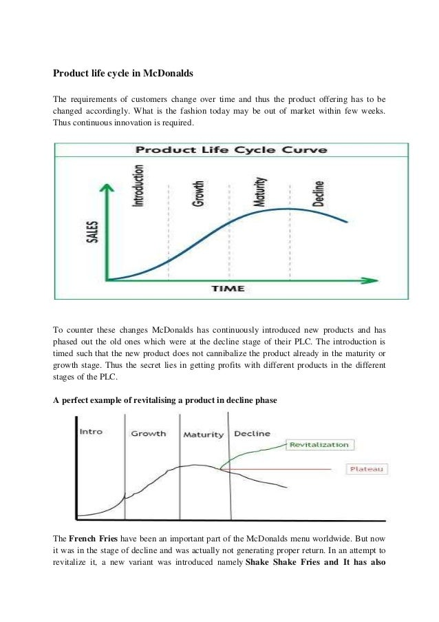 mcdonald product life cycle Tweetscoopit tweetscoopitthis free product life cycle powerpoint template is a ppt slide design with a product life cycle curve ready to be used in your powerpoint.