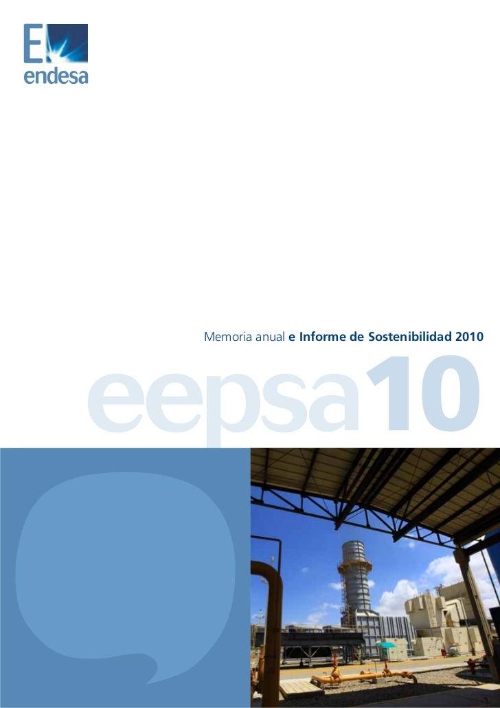 Memoria anual e Informe de Sostenibilidad 2010eepsa10