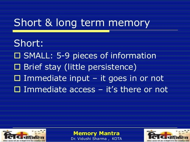a brief examination of human memory Throughout the unit, students and teachers can add real-world exam- ples using   brain solely responsible for all memory, though there are certain regions  related to  the sensory register is a memory system that works for a very brief  pe.