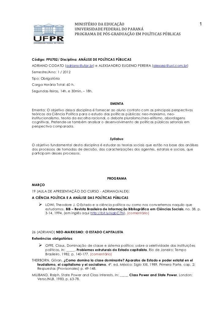 MINISTÉRIO DA EDUCAÇÃO                                                      1                             UNIVERSIDADE FED...