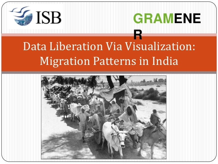 GRAMENE                     RData Liberation Via Visualization:   Migration Patterns in India