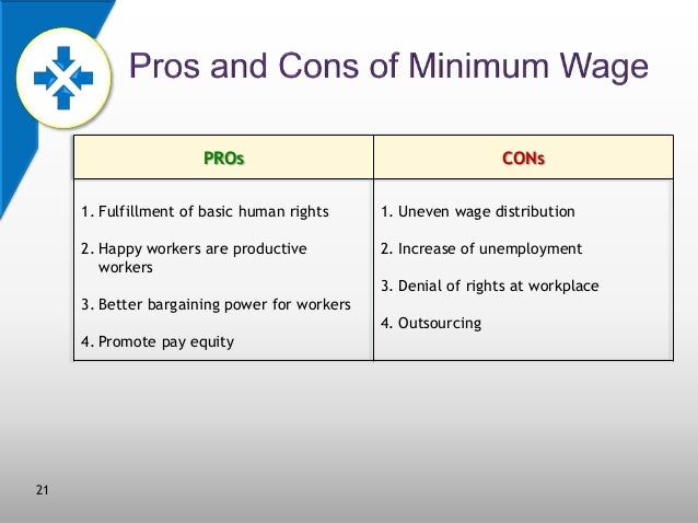 the advantages and disadvantages of minimum Minimum wage laws help protect the lower and middle classes against poverty, but they can act as a deterrent against creating new jobs for some potential employers.