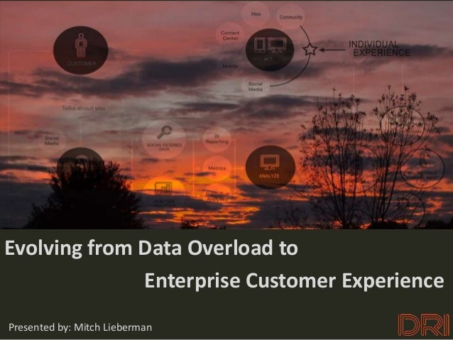 CUSTOMEREvolving from Data Overload to              Enterprise Customer ExperiencePresented by: Mitch Lieberman