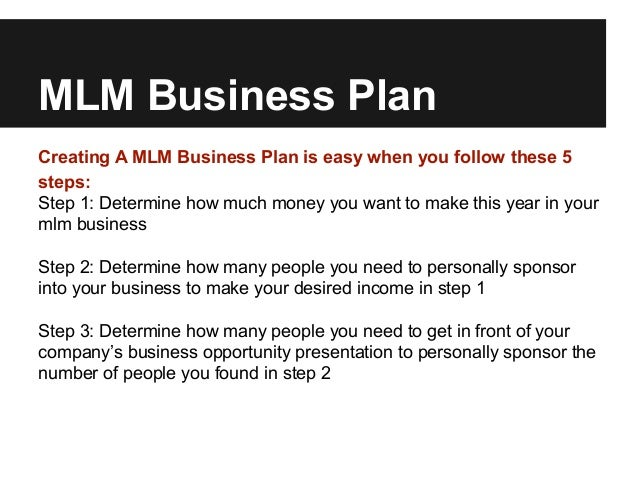 Simple mlm business plan for predictable mlm income mlm business plancreating a mlm business plan accmission Images