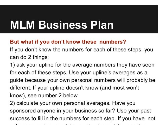 Simple mlm business plan for predictable mlm income mlm business accmission