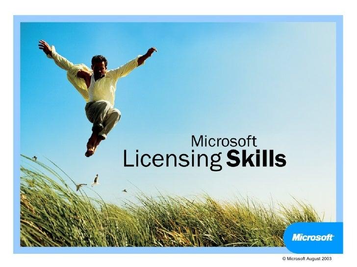 © Microsoft August 2003