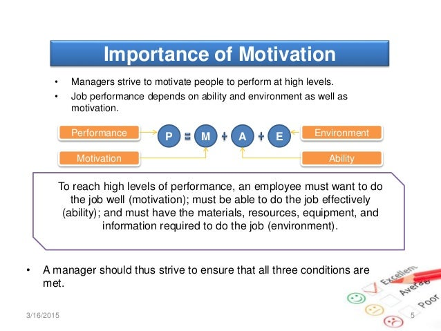 The role of motivation in high