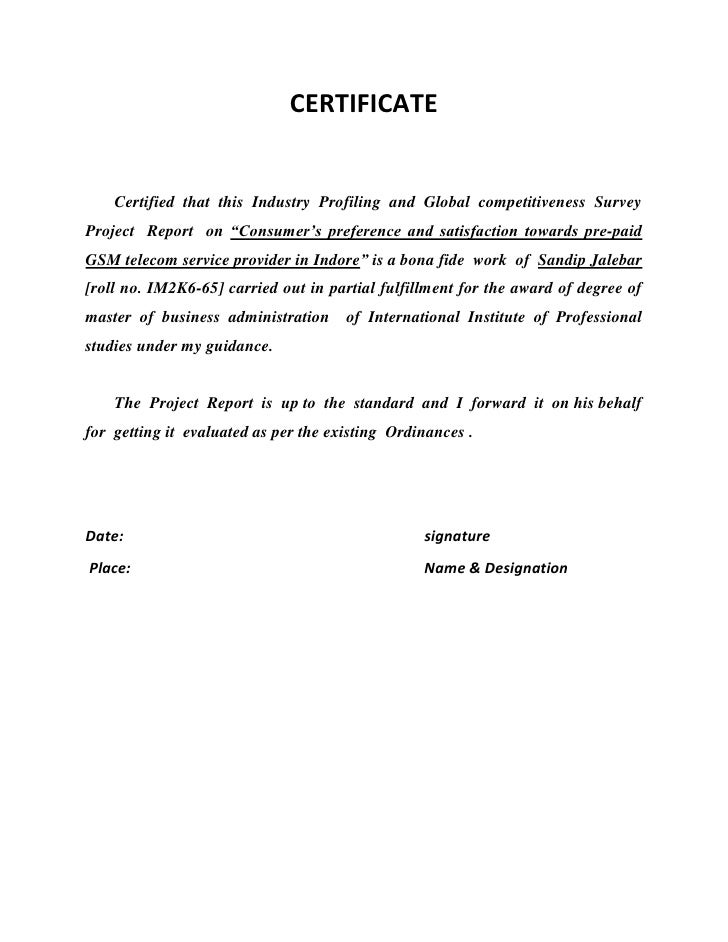 CERTIFICATE <br />       Certified  that  this  Industry  Profiling  and  Global  competitiveness  Survey  Project  Report...