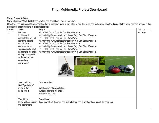 Final Multimedia Project Storyboard