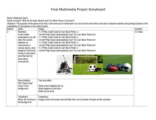 Final Multimedia Project Storyboard