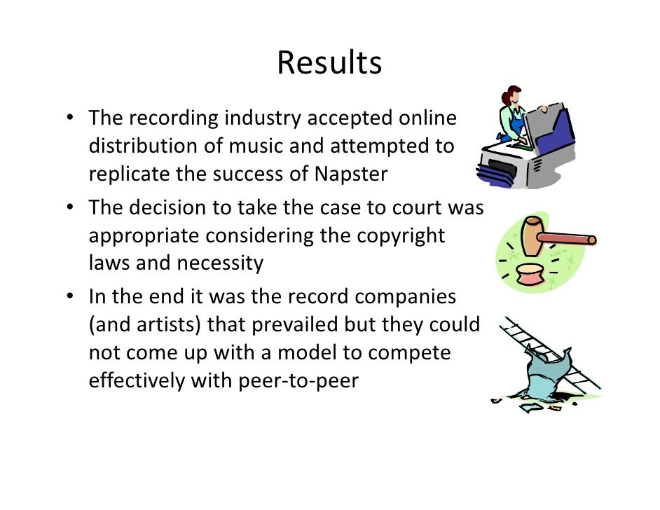 case analysis napster A review of the chief p2p cases decided to date-napster, aimster, and  these  three cases are not entirely consistent in their analyses the law.