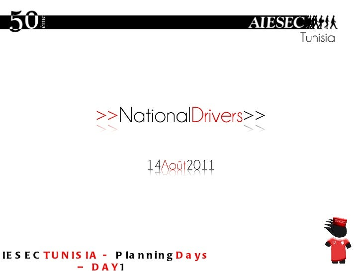 AIESEC TUNISIA -  Planning Days – DAY 1