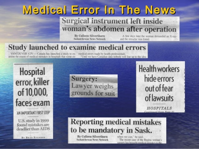 Case studies medical errors