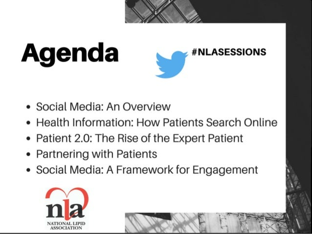 The Role of Social Media in Clinical Trial Recruitment   National Lipid Association Scientific Sessions, Philadelphia Slide 3