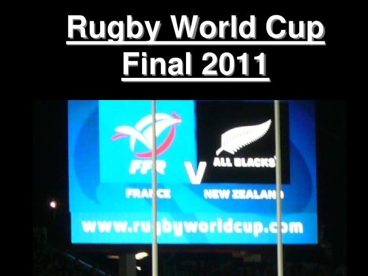 Rugby World Cup   Final 2011