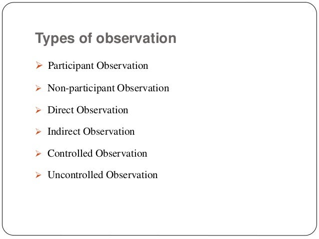 Scientific method and participant observation