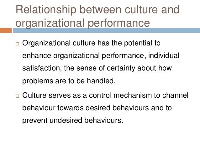 impact of strong organizational culture Impact of organizational culture on employee performance and focuses on how culture makes an impact on employees' psychology and performance a strong organizational culture supports adaptation and develops organization's employee performance by.