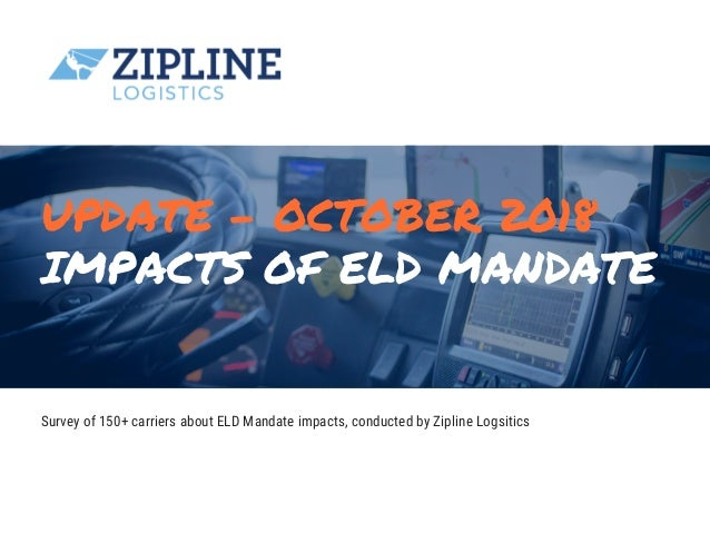 IMPACTS OF ELD MANDATE 60+ Years of Design + Innovation + Excellence 433 Fulton Street New CityNew York City 10956a Surv...