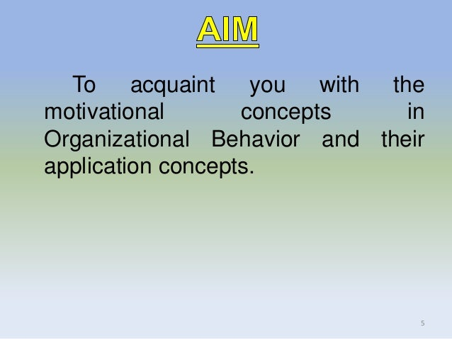 motivation and organizational behavior The journal will focus on research and theory in all topics associated with organizational behavior within  attitudes, values, motivation, career behavior, stress.