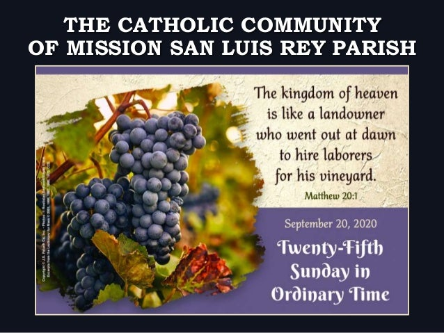 OF MISSION SAN LUIS REY PARISH THE CATHOLIC COMMUNITY
