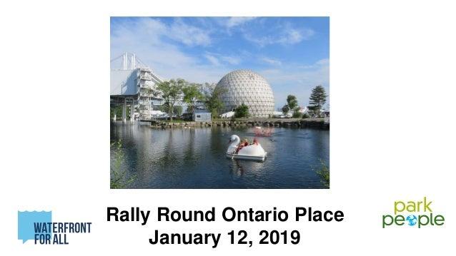 Rally Round Ontario Place January 12, 2019