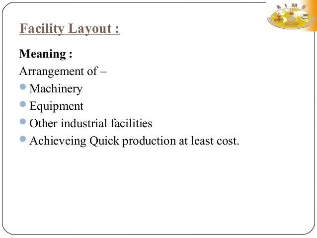Facility Layout Slide 3