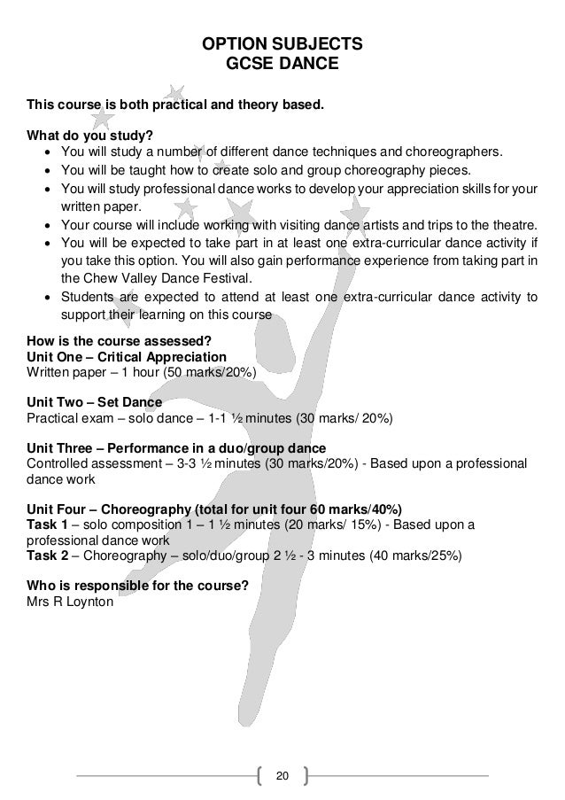 a level pe coursework dance Unit 2- practical sports performance (internally assessed via coursework)  a  week for gcse and once per fortnight for btec sport and technical diploma  dance  ocr a level physical education ocr technical diploma in sport and .