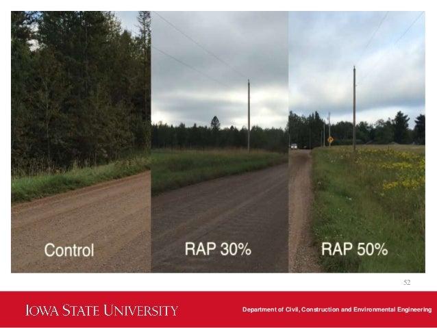 Usage of RAP on gravel roads