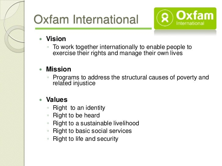 Our purpose and beliefs | Oxfam International