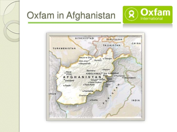 Oxfam in Afghanistan