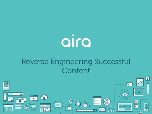Reverse Engineering Successful Content