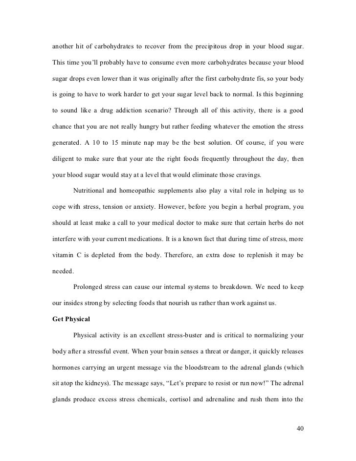 stress paper example