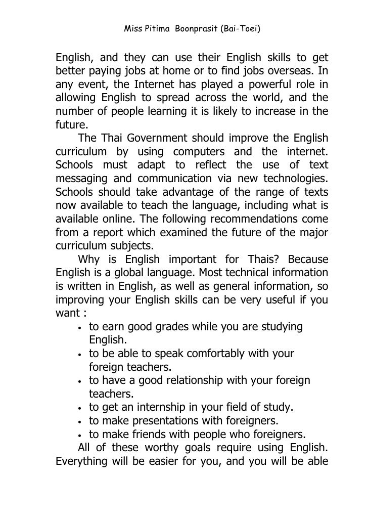 why english important for travel The importance of language  no denying that the knowledge of the english language is one of the most important tools available to our children it is one of the.