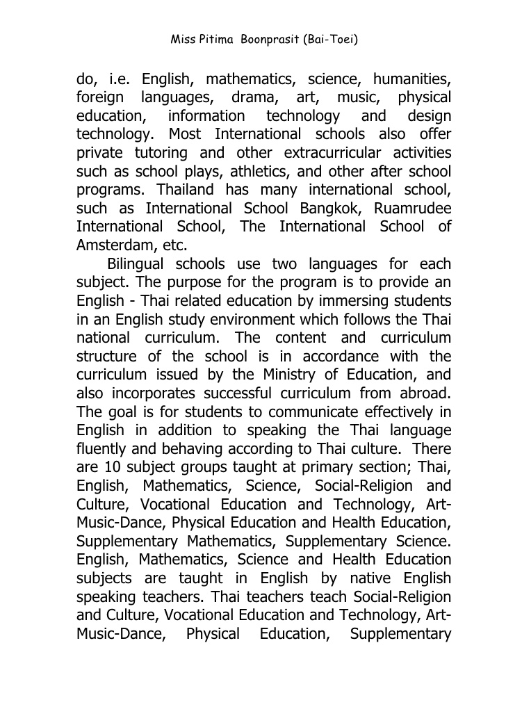 Statement of english language ability essay