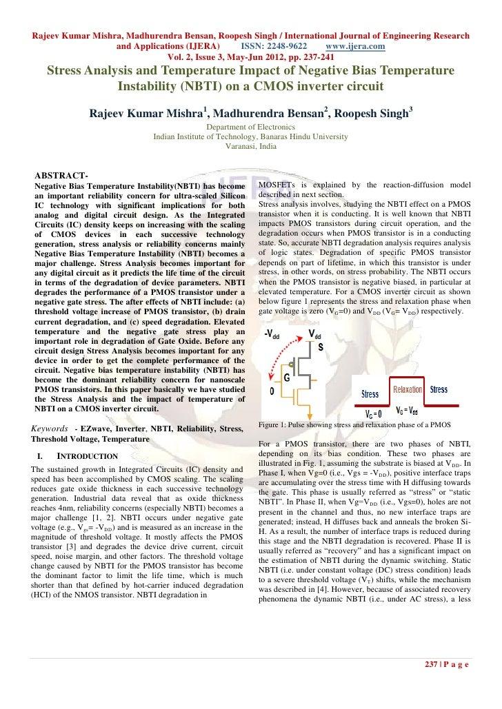 Rajeev Kumar Mishra, Madhurendra Bensan, Roopesh Singh / International Journal of Engineering Research                  an...