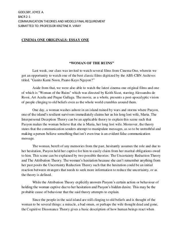 reflection paper about tour