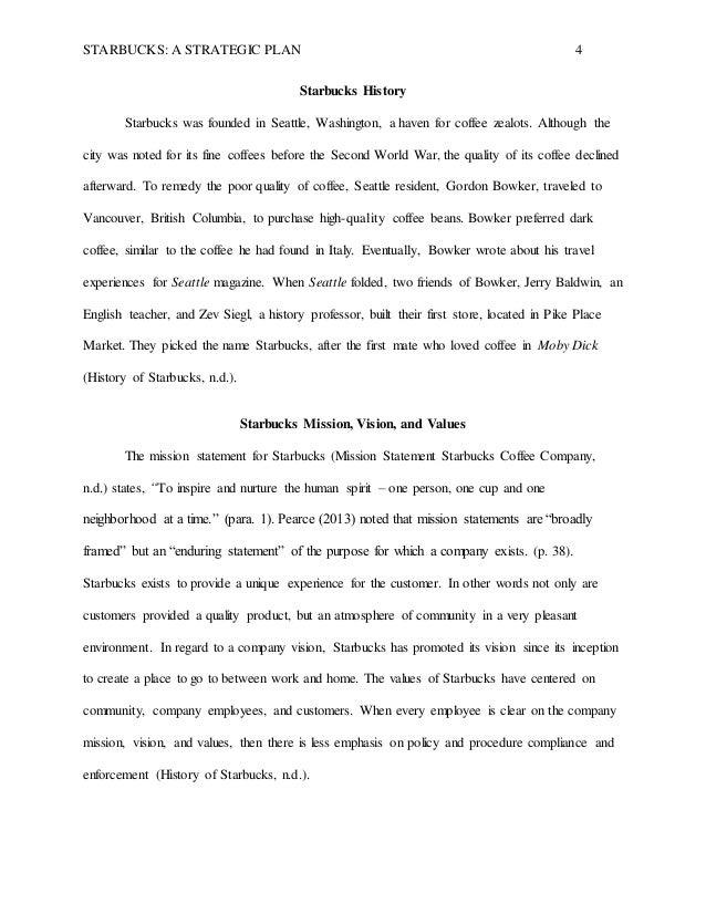 starbucks initiative strategic planning essay