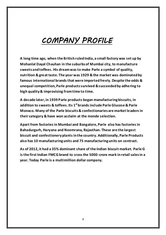 report on parle products Bakery products - global strategic business report id:  savory biscuits, sweet biscuits, and other bakery products also, the report analyzes the  parle.