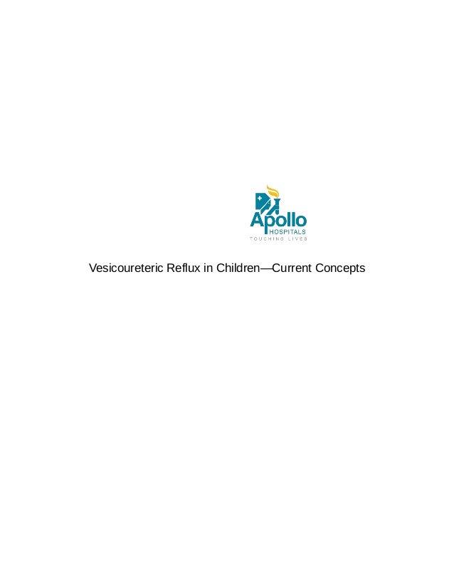 Vesicoureteric Reflux in Children—Current Concepts