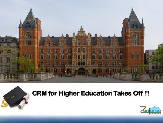 CRM for Higher Education Takes Off !!