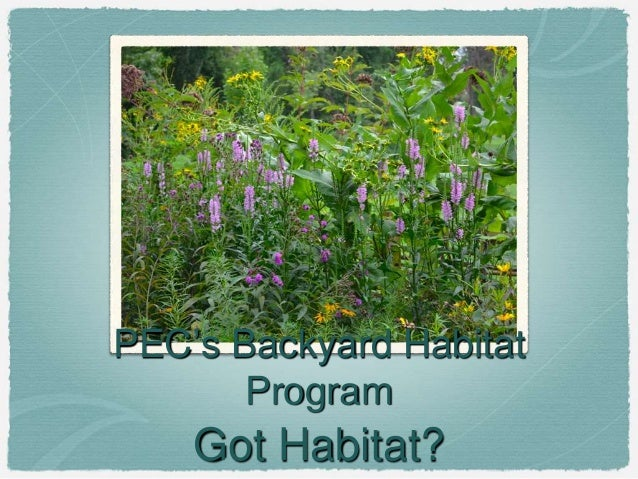PEC's Backyard Habitat Program Got Habitat?