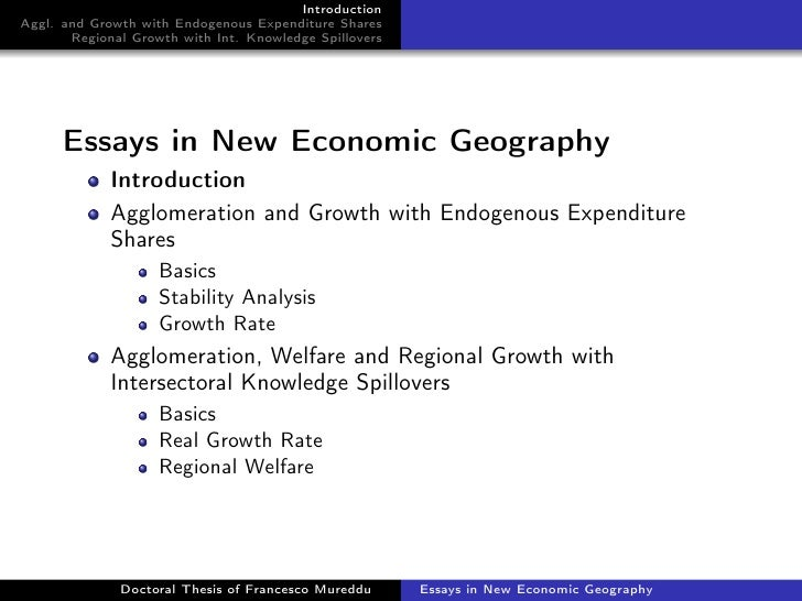 dissertation economic geography I am glad the centre for gender economics and innovation, through the gender economics global conference, is promoting that important message related post of geography dissertation discussion.