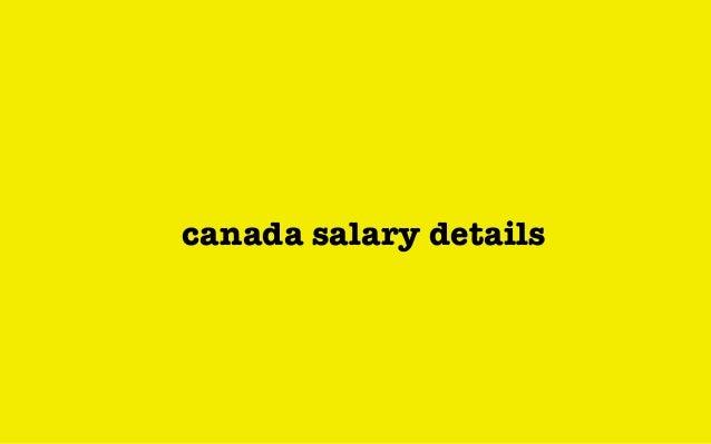 canada salary details