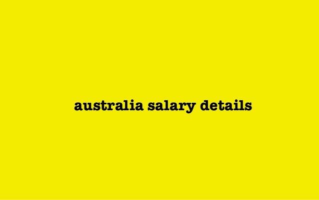 australia salary details