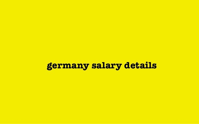 germany salary details