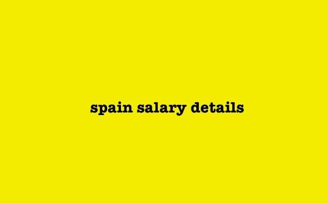 spain salary details
