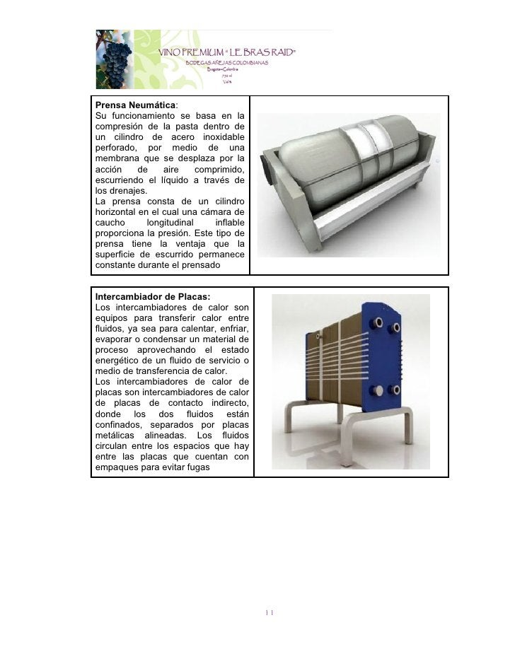 Prensa Neumática:Su funcionamiento se basa en lacompresión de la pasta dentro deun cilindro de acero inoxidableperforado, ...