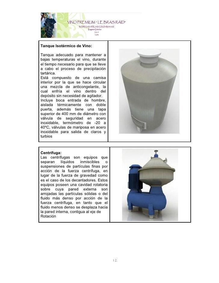 Tanque Isotérmico de Vino:Tanque adecuado para mantener abajas temperaturas el vino, duranteel tiempo necesario para que s...