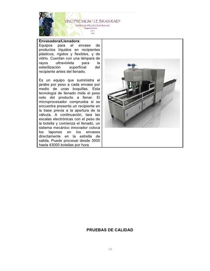 Envasadora/Llenadora:Equipos para el envase deproductos líquidos en recipientesplásticos, rígidos y flexibles, y devidrio....